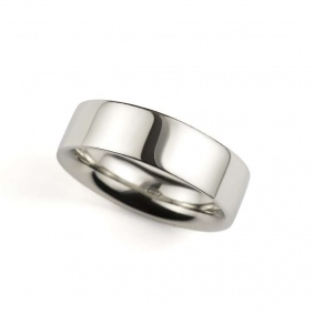 Platinum 7mm Flat Court Wedding Band